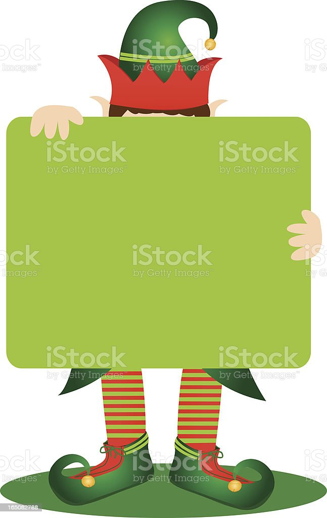 Elf Sign royalty-free stock vector art