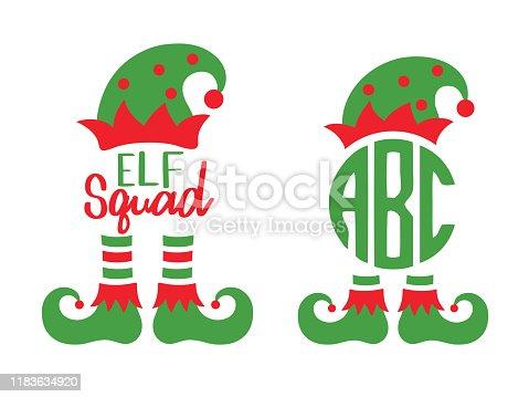 istock Elf Squad Monogram Frame 1183634920