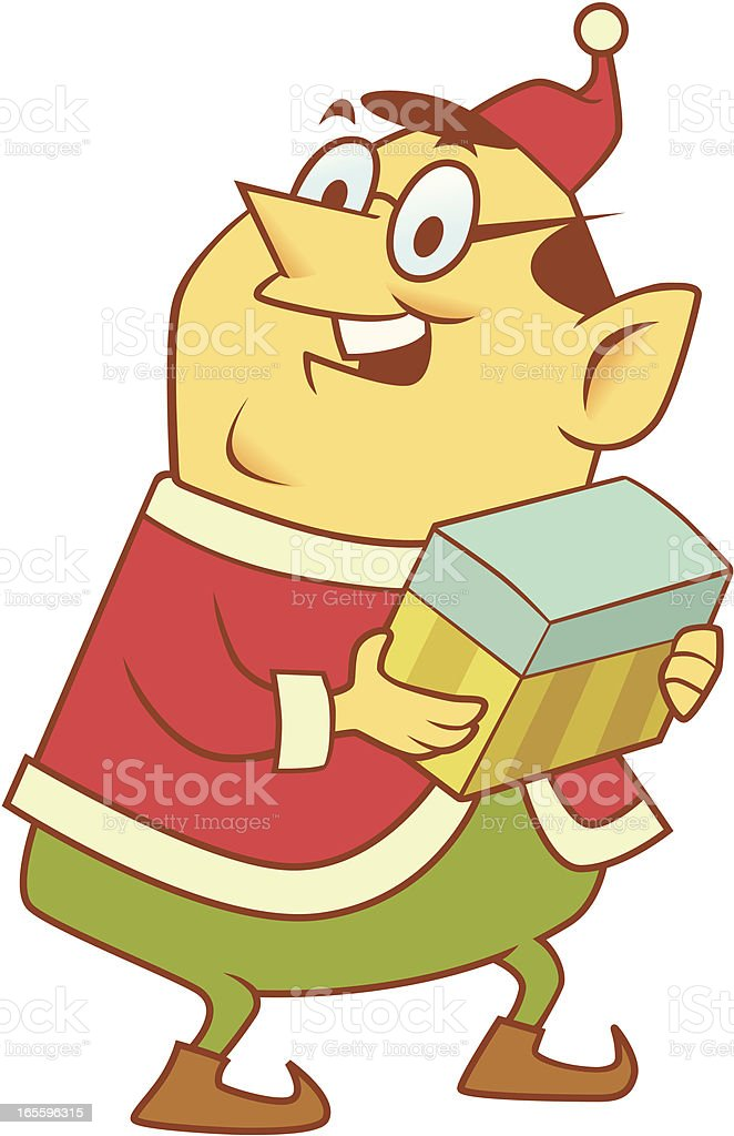 Elf with Gift royalty-free elf with gift stock vector art & more images of cartoon