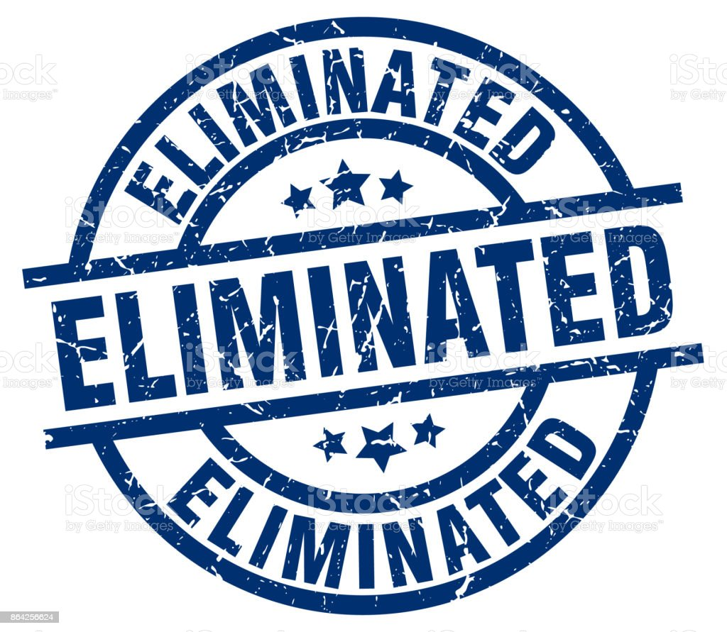 eliminated blue round grunge stamp royalty-free eliminated blue round grunge stamp stock vector art & more images of badge