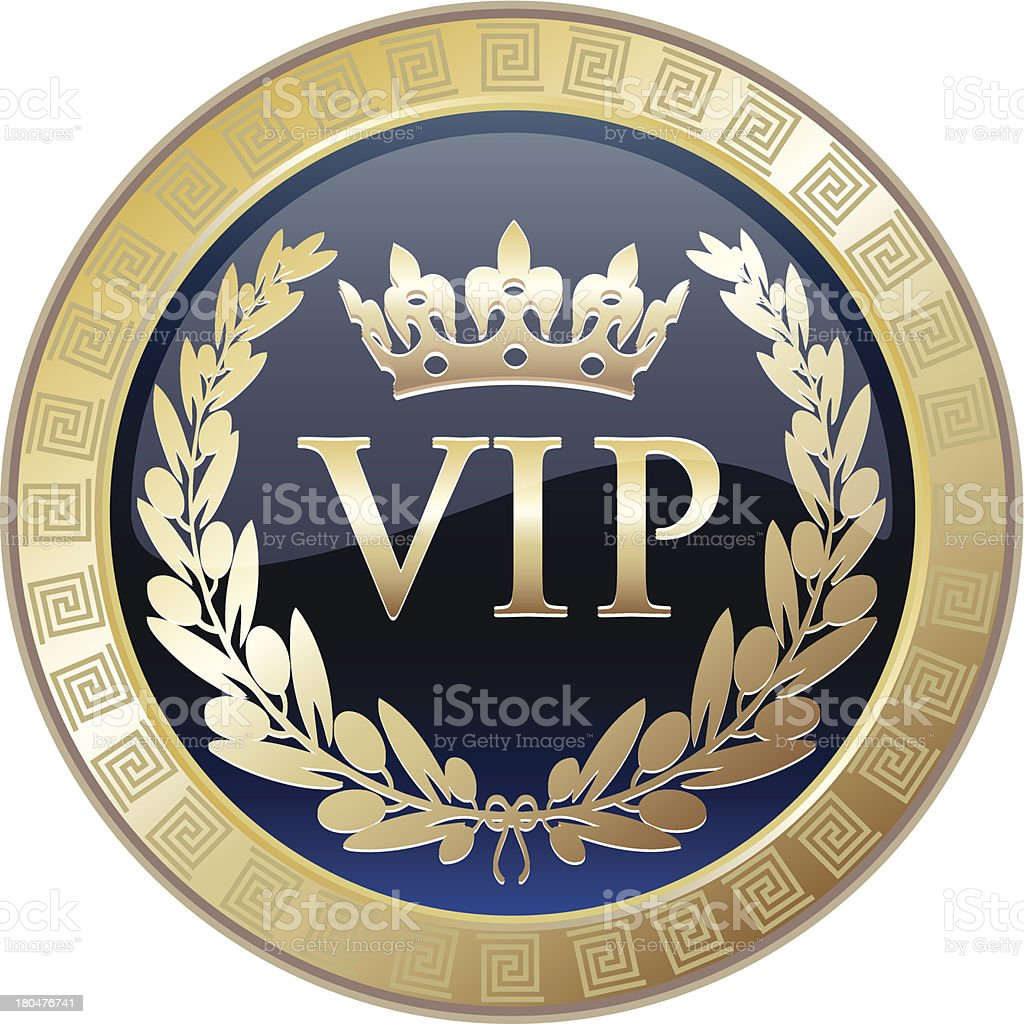 VIP Elite Award Medal royalty-free stock vector art