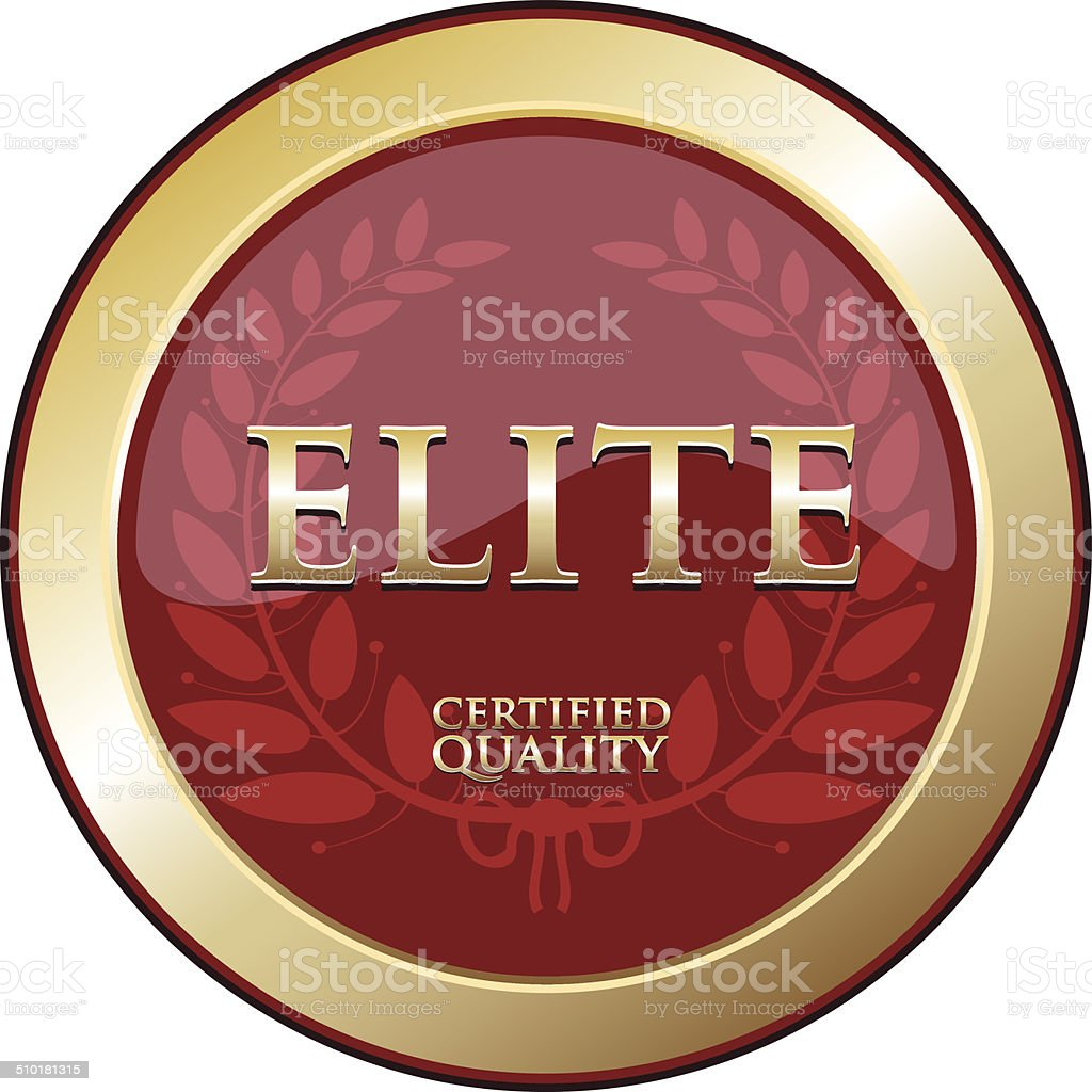 Elite Gold Emblem vector art illustration