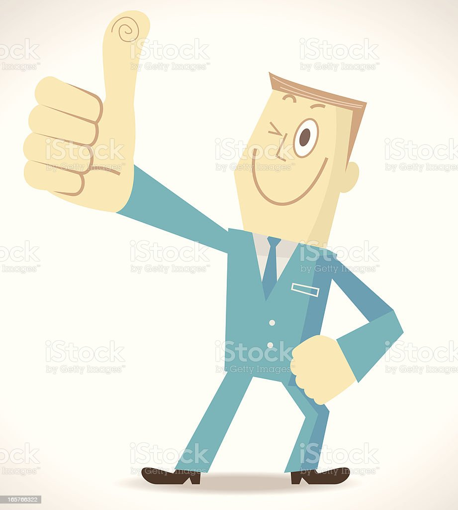 Elite Man Gesturing Thumbs Up royalty-free stock vector art
