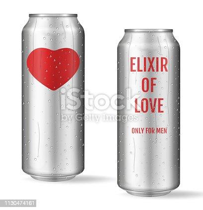 Elixir of love. Modern concept. Love potion. Only for men.