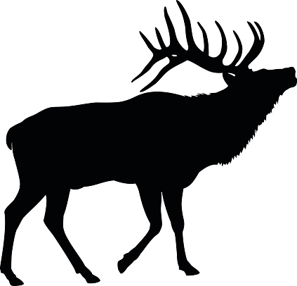 Elk Deer Silhouette
