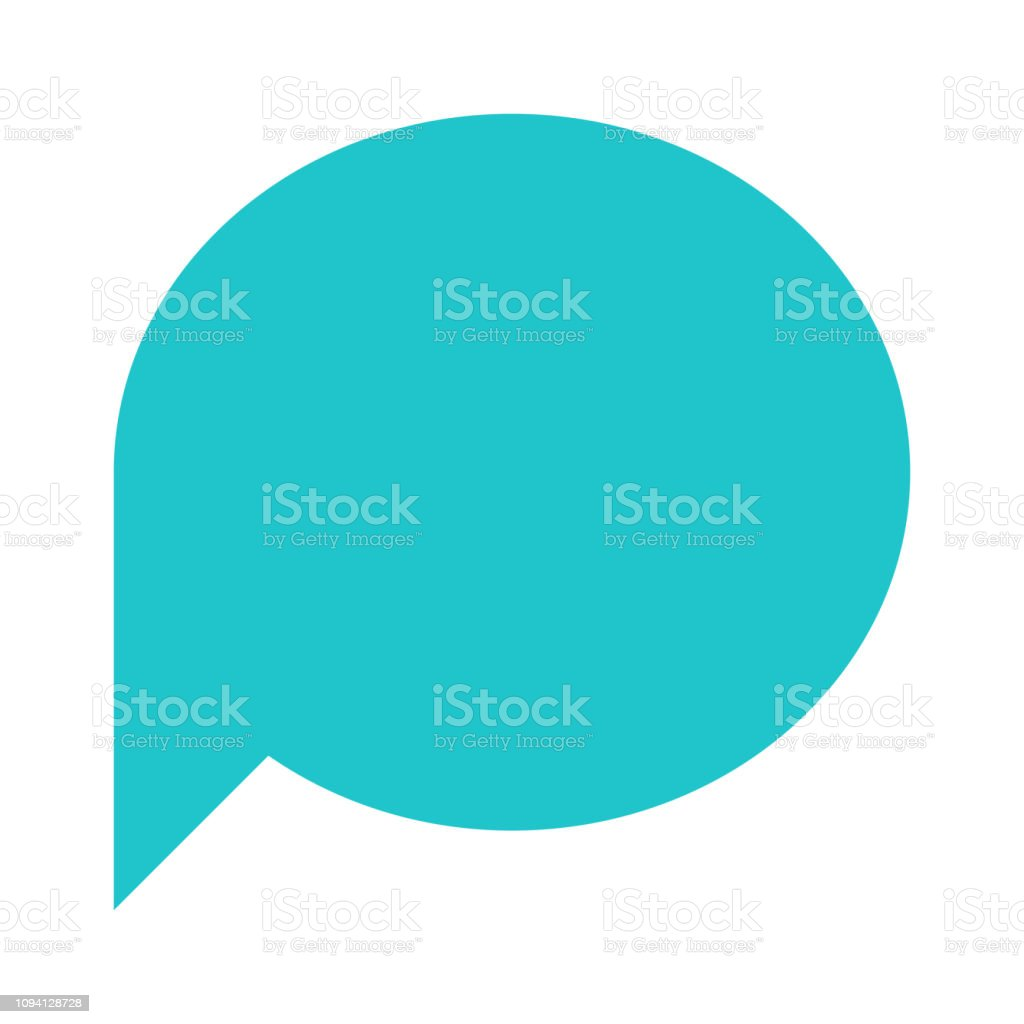 Ellipse blank speech bubble sign or empty map pin iconOval shape on a white background created in simple flat style. vector art illustration