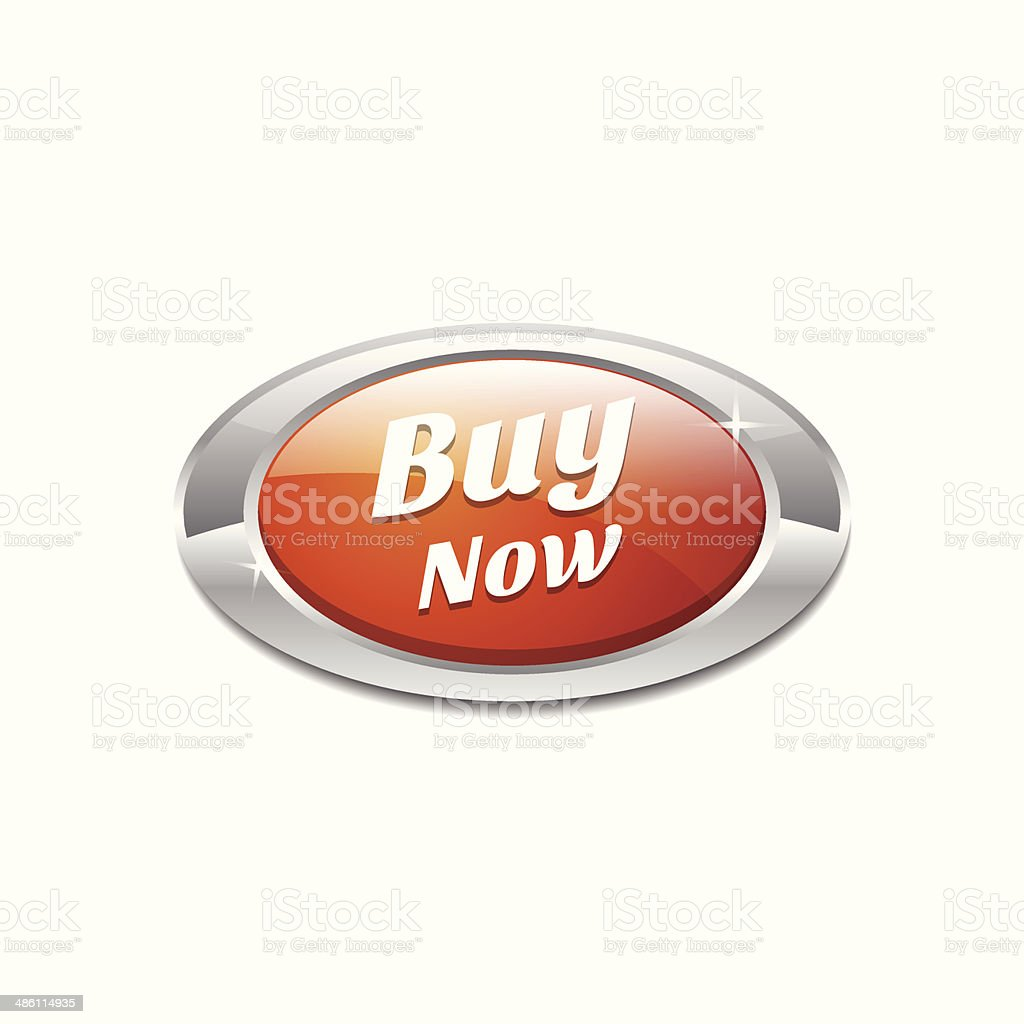 Elliptic Buy Now Button Vector Icon - Royalty-free Bubble stock vector