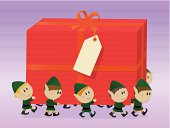 Elves and huge gift