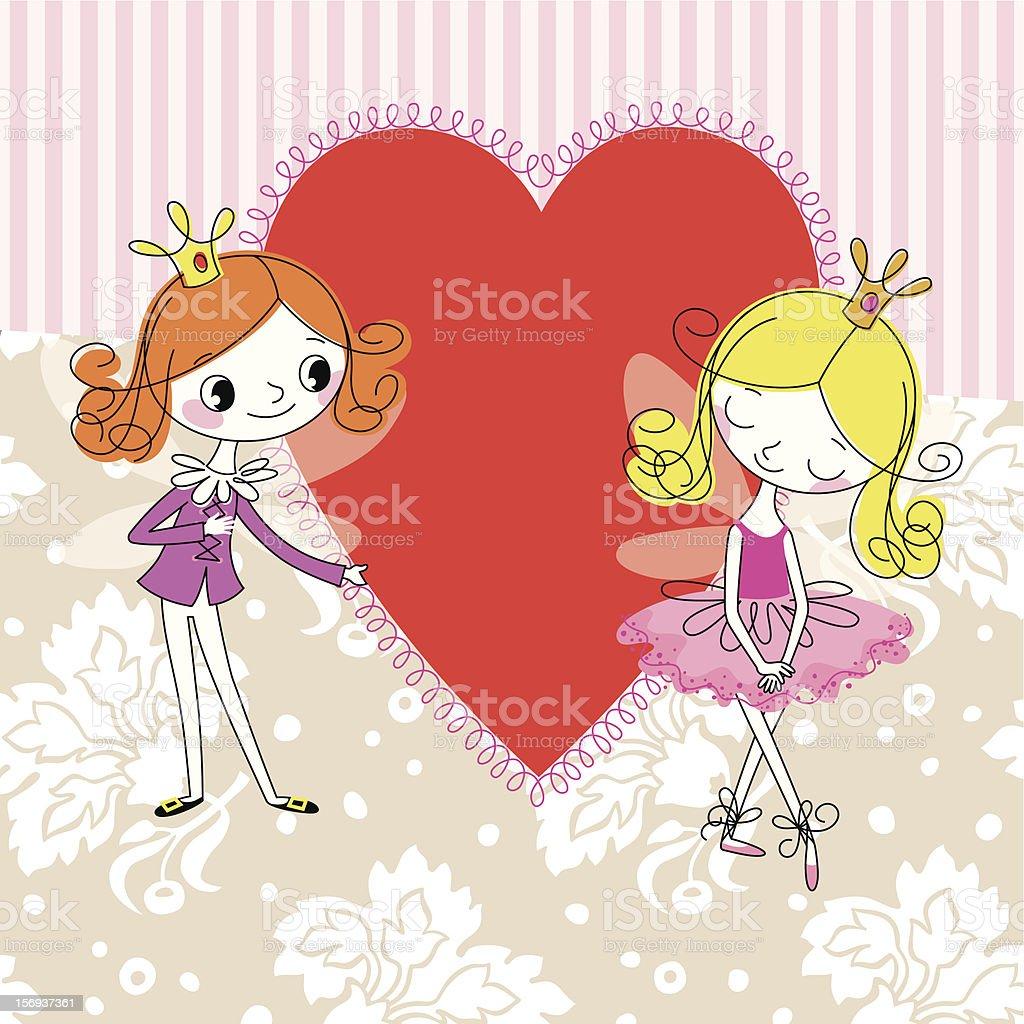 Elves in Love. royalty-free stock vector art