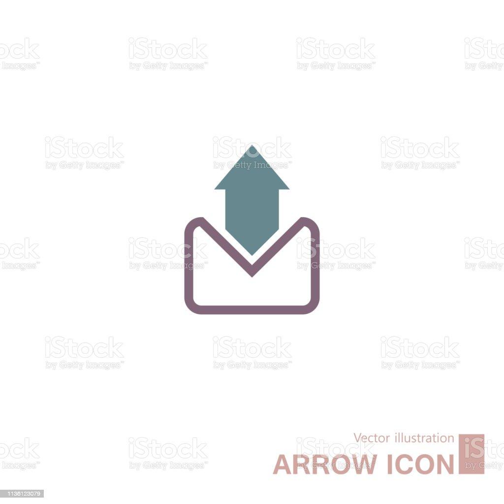 Email, símbolo abstrato da seta. - ilustração de arte em vetor