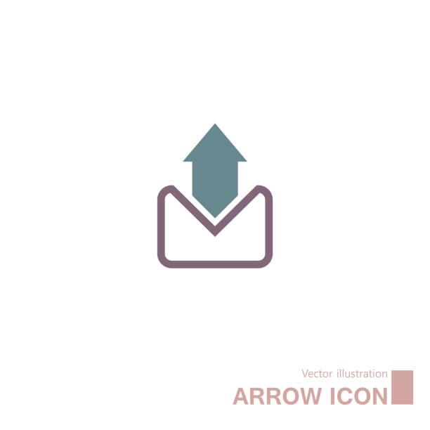 ilustrações, clipart, desenhos animados e ícones de email, símbolo abstrato da seta. - fontes e tipografia