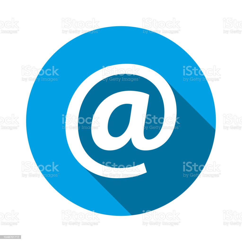Email Address Icon Vector Illustration At Sign Symbol For Graphic