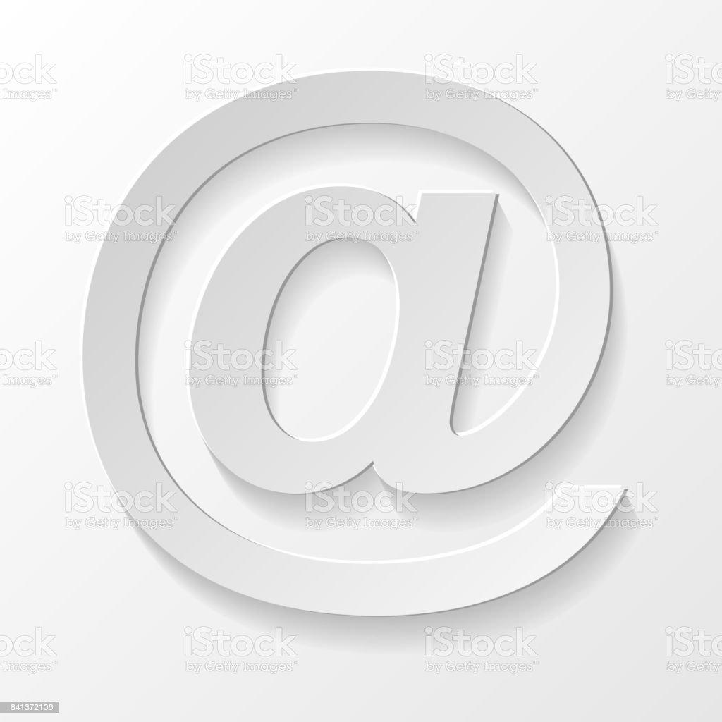E-mail - symbole 3d réaliste. Vector. - Illustration vectorielle