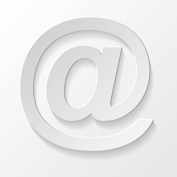 Email address - realistic 3d symbol. Vector. Email address - realistic 3d symbol. Vector. email signs stock illustrations