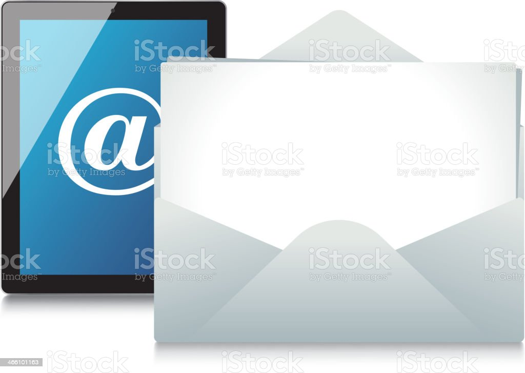 Email and letter royalty-free stock vector art