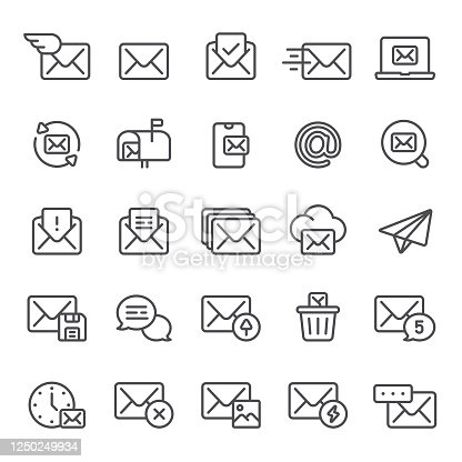 Mail, email, message, icon, icon set, mailbox, envelop, post, letter