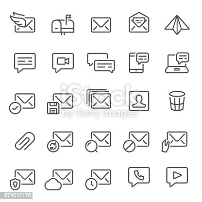 Mail, email, post, messaging, icon, icon set, mailbox, envelop