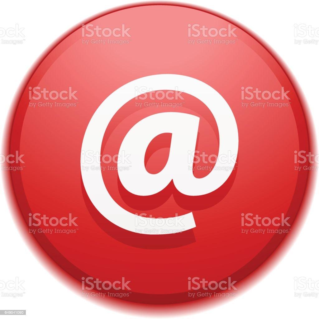 Illustration de bouton e-mail - Illustration vectorielle