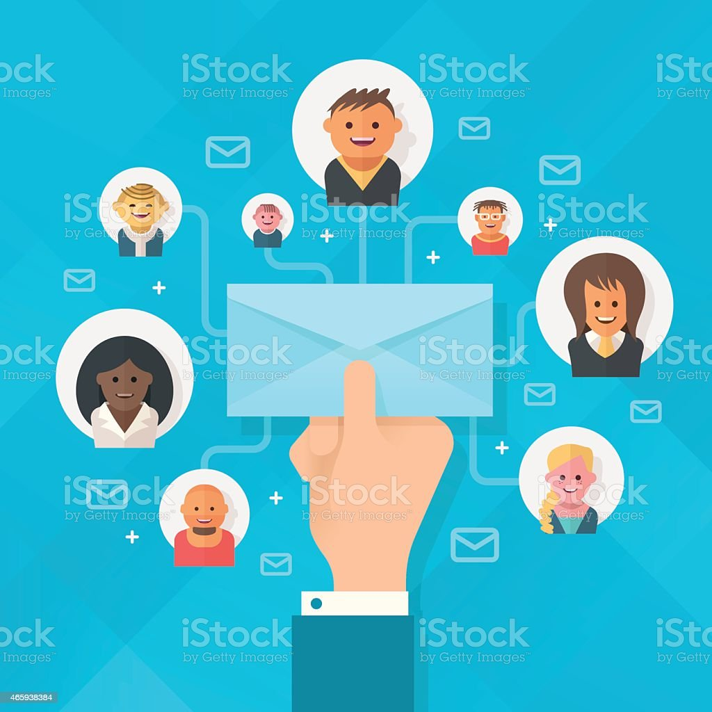 Email Campaign vector art illustration