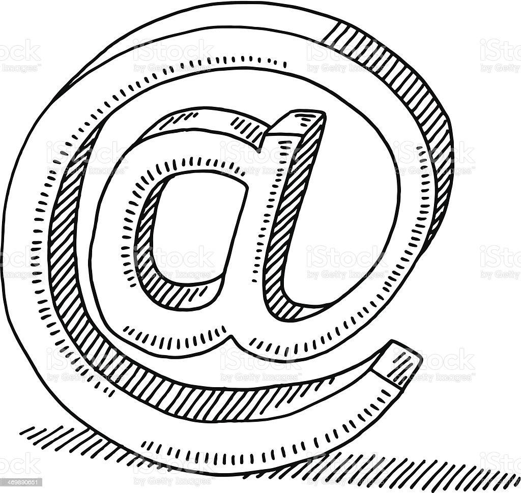 Symbole de la Communication électronique dessin - Illustration vectorielle