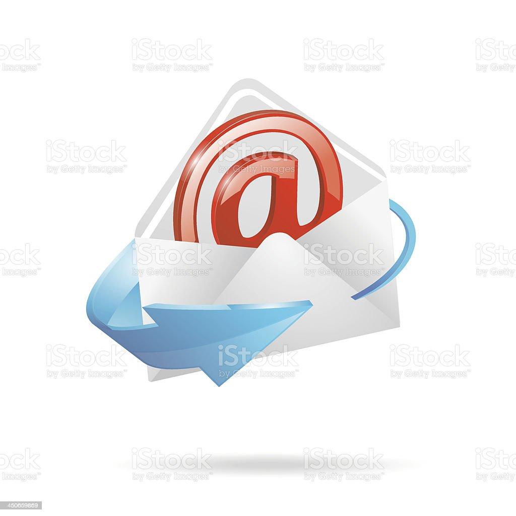 Email concept vector art illustration