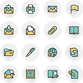 Email contour icons.