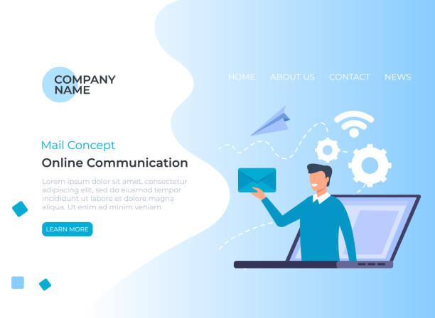 Email envelope communication concept. Vector flat graphic design illustration vector art illustration