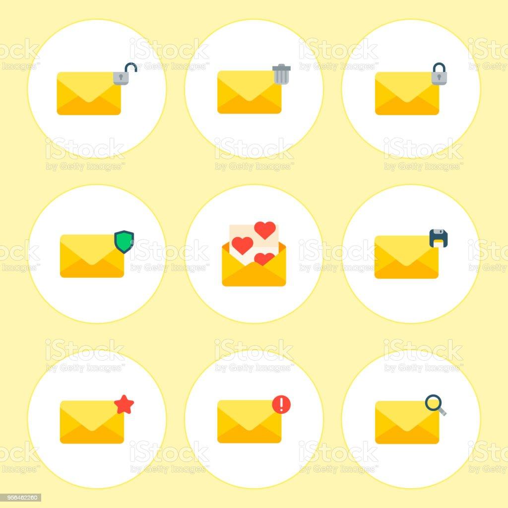 Emailumschlag Symbole Kommunikation Korrespondenz Blindabdeckung