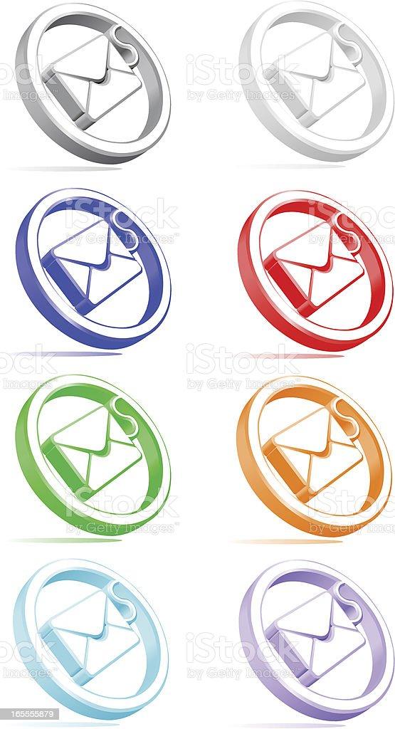 Email Envelope Icon vector art illustration