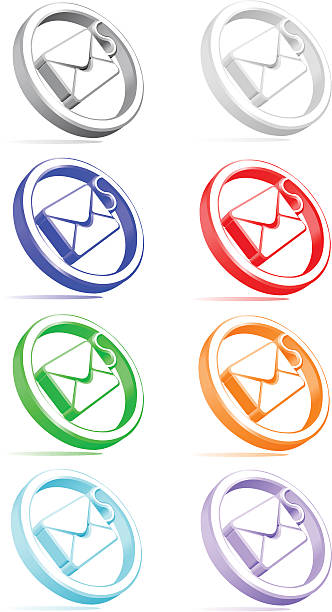 email envelope icon - byteandpixel stock illustrations