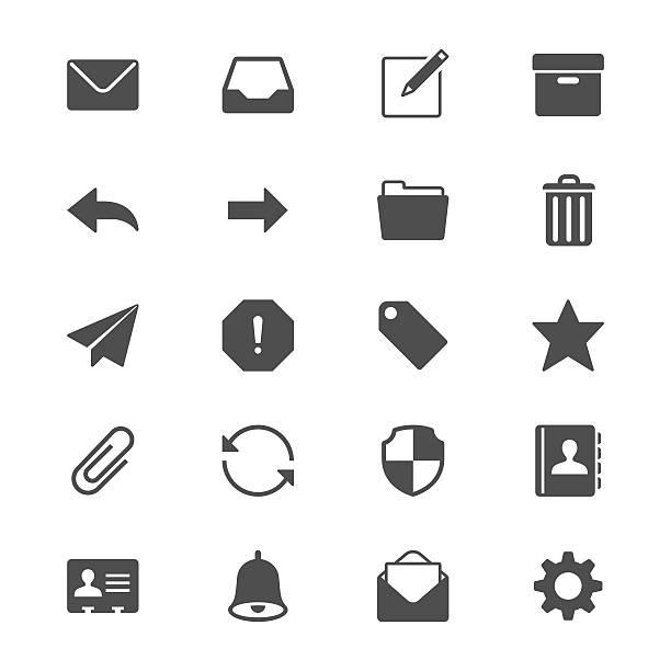 E-Mail-flache Symbole – Vektorgrafik