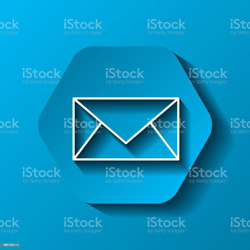 e-ikonen. Kommunikationsdesign över hexagon. Vektorbild royaltyfri eikonen kommunikationsdesign över hexagon vektorbild-vektorgrafik och fler bilder på brev - dokument