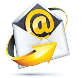 Email icon concept isolated on a white background