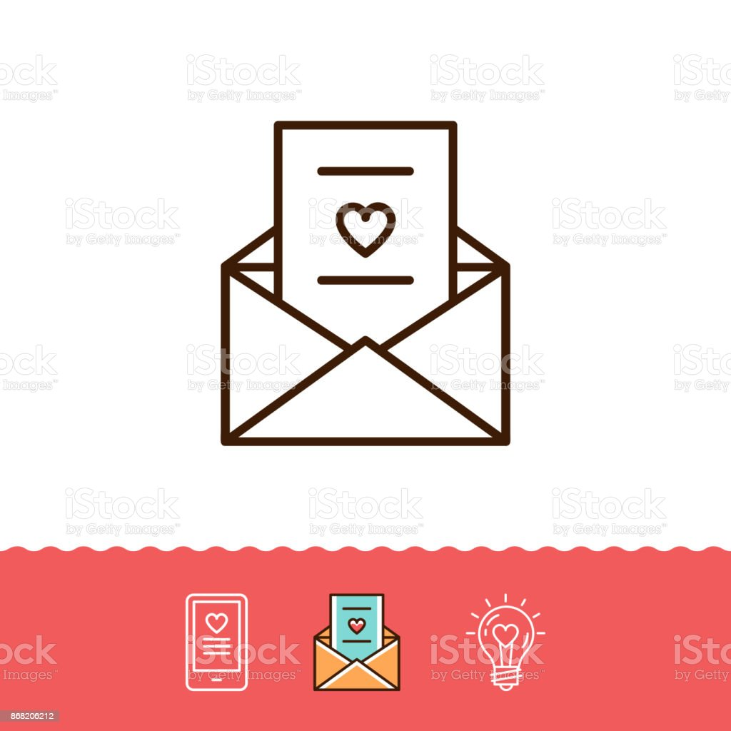 Email icon love sms or romantic message icons phone sign envelope email icon love sms or romantic message icons phone sign envelope line thin biocorpaavc Images