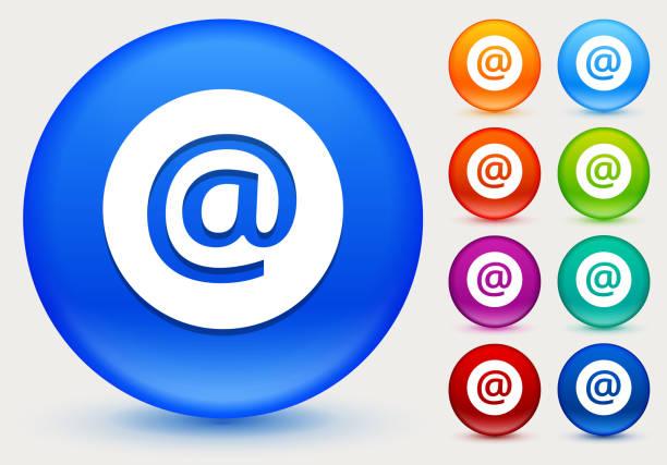 Icône d'email sur le cercle de couleur brillante boutons - Illustration vectorielle