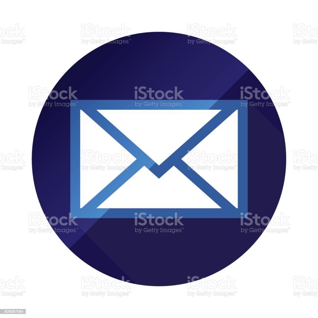couleur de courriel icône simple vector illustration bleu marine