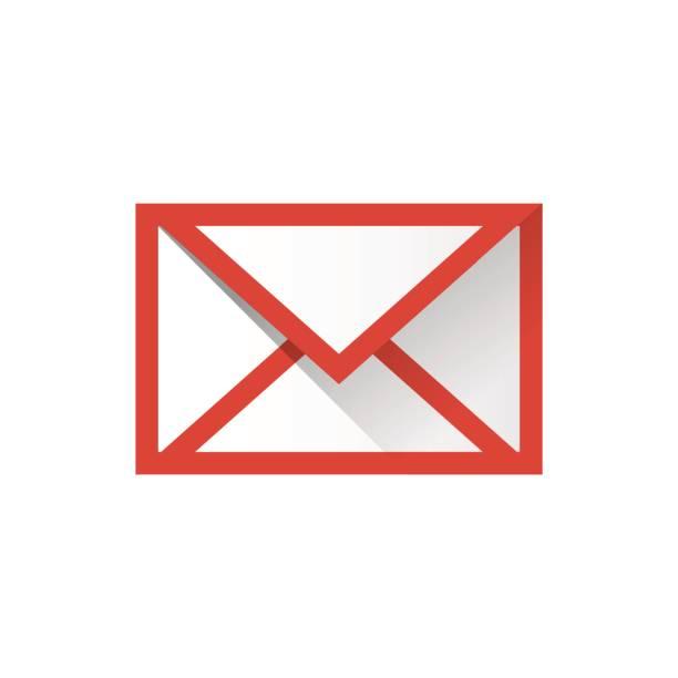 電子メール アイコン シンプルなベクター イラスト赤い色です。 - メール点のイラスト素材/クリップアート素材/マンガ素材/アイコン素材