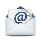 E-mail icon, vector illustration on white background