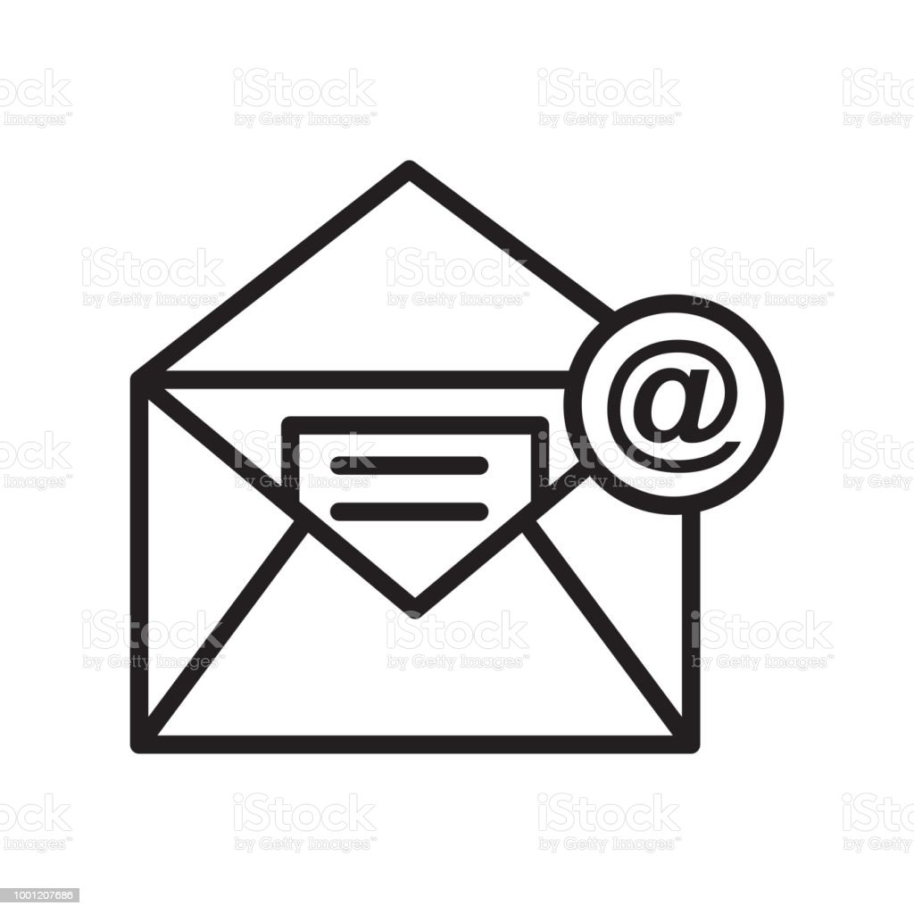 Email Icon Vector Sign And Symbol Isolated On White Background Email