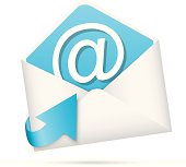 E-mail icon with arrow vector eps10