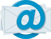 The envelopes with the 'at' symbol in the form of a paper clip.