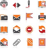 E-mail icons. Color series.