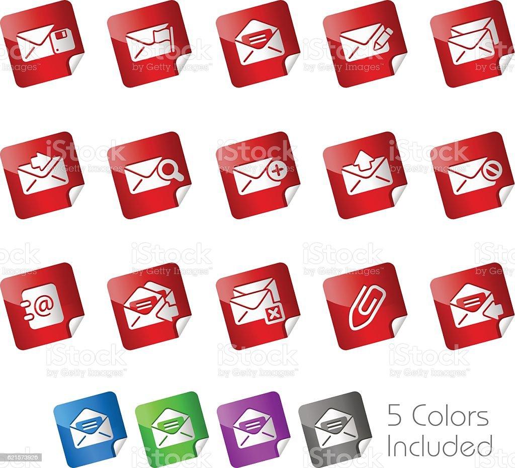 E-mail Icons // Stickers Series email icons stickers series – cliparts vectoriels et plus d'images de cadenas libre de droits