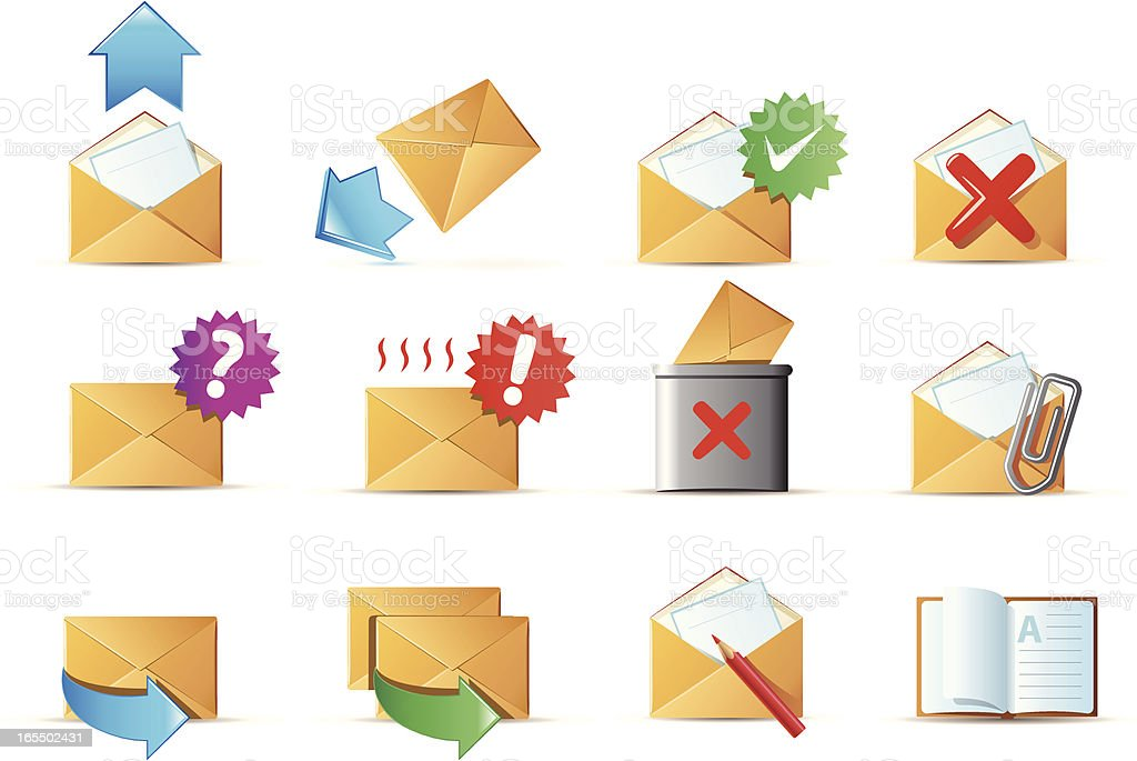 e-mail icons royalty-free stock vector art