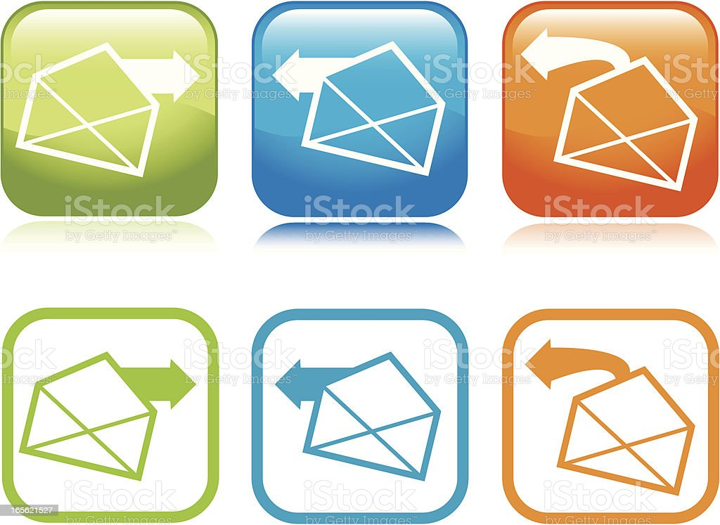 Email Icons royalty-free email icons stock vector art & more images of arrow symbol