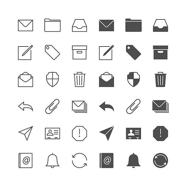 E-Mail-Symbole – Vektorgrafik