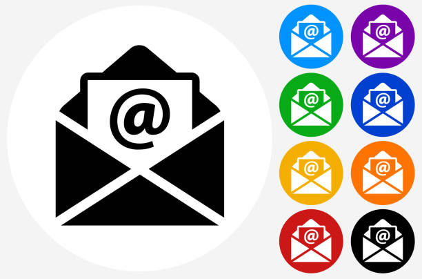 email letter. - email icon stock illustrations, clip art, cartoons, & icons
