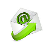email. mail. contact us illustration design over a white background