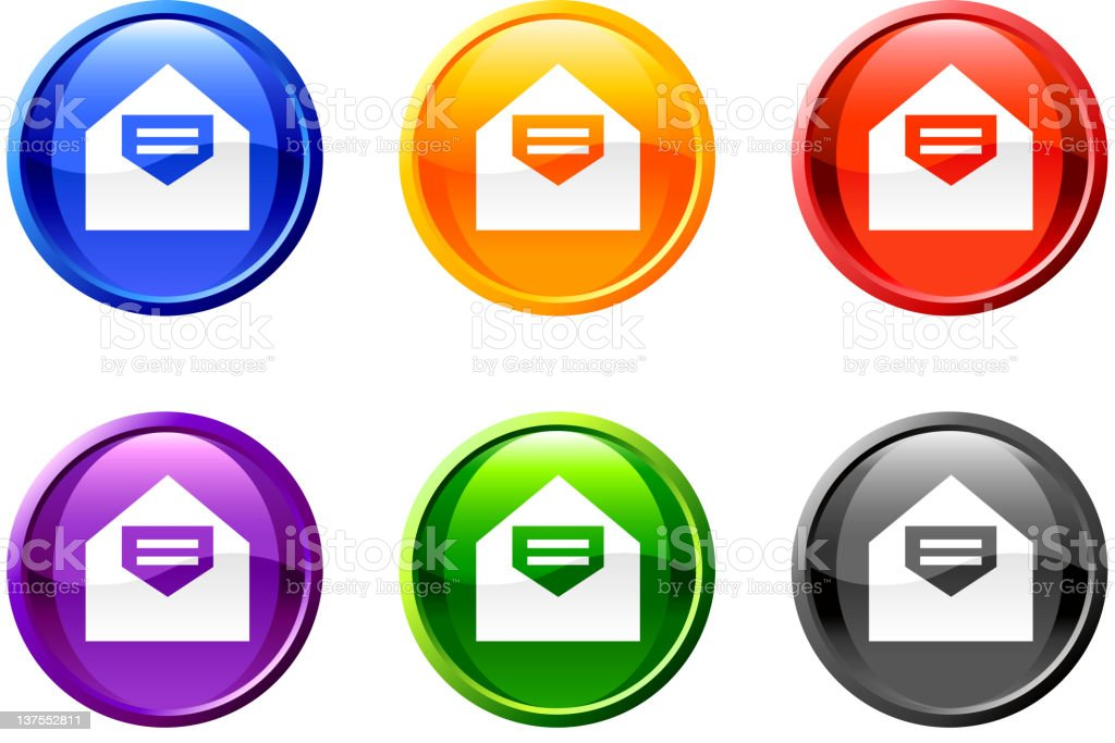 email mail vector icon set round buttons royalty free vector royalty-free stock vector art