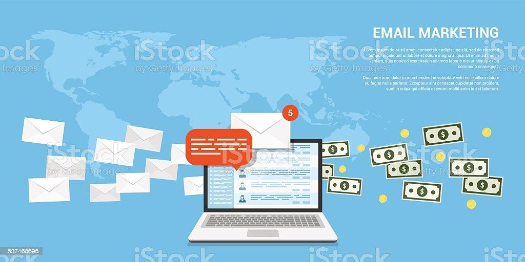 email marketing banner vector art illustration
